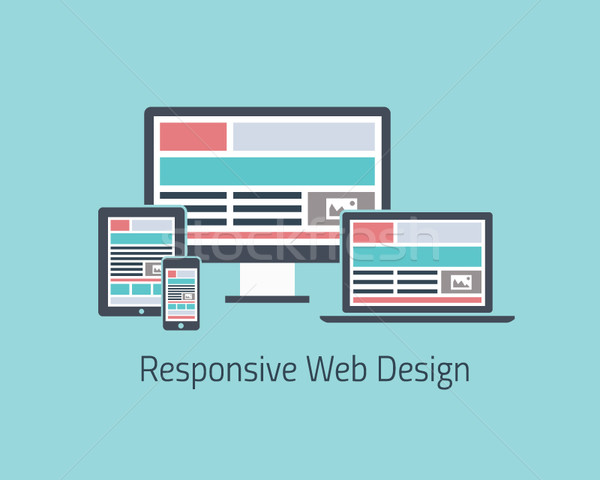 Responsive web design development vector flat style Stock photo © MPFphotography