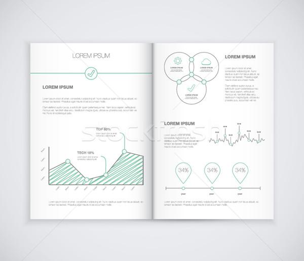 Corporate business presentatie brochure vector Stockfoto © MPFphotography