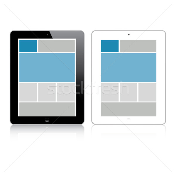 Highly detailed responsive grid tablet vector Stock photo © MPFphotography