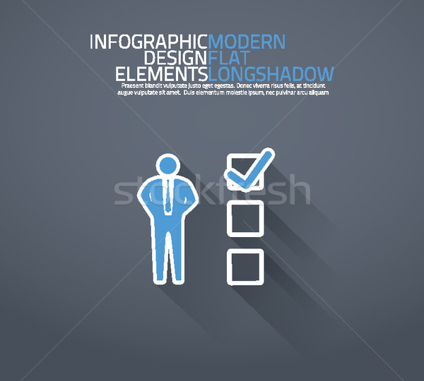 Business checklist or to do list vector illustration. Stock photo © MPFphotography