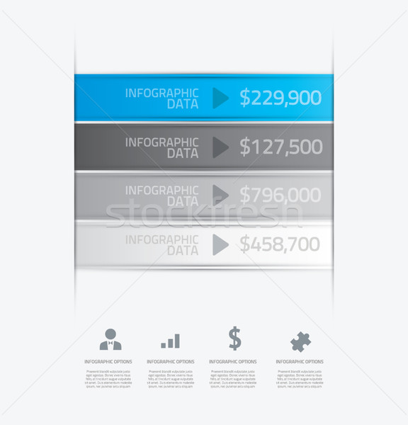 Data infographic template with icons. Vector. Stock photo © MPFphotography