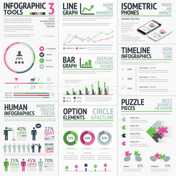 Infographic vector elements template easy to edit Stock photo © MPFphotography