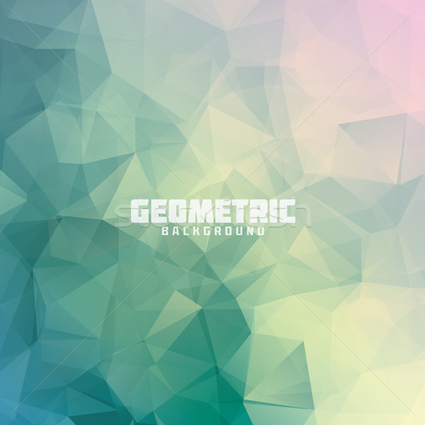 Geometric triangle pastel colored vector background Stock photo © MPFphotography