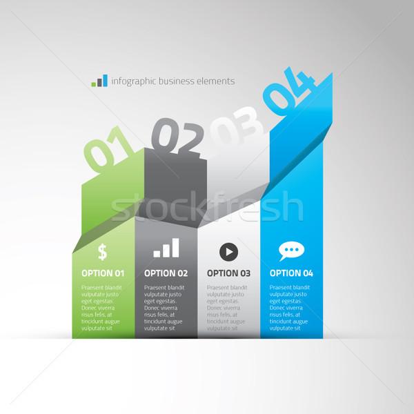 Infografika grafikon üzlet lehetőségek eps10 internet Stock fotó © MPFphotography