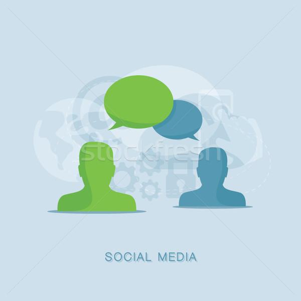 Conversa negócio computador abstrato fundo Foto stock © MPFphotography