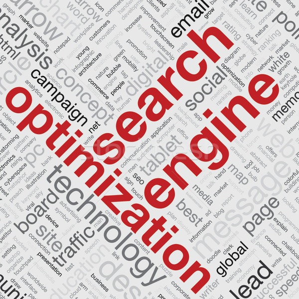 Search engine optimization concept in word tag cloud vector Stock photo © MPFphotography
