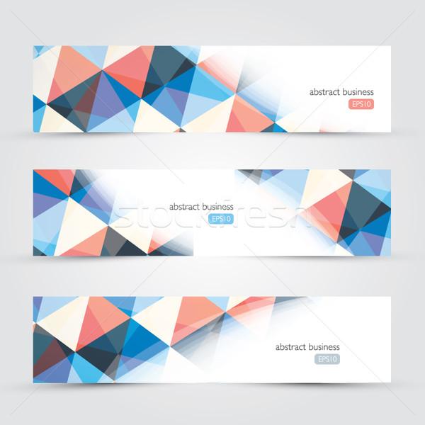 Drie abstract website zakelijke achtergronden vector internet Stockfoto © MPFphotography