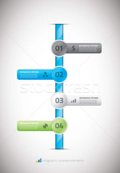 Infographic business timeline template vector illustration Stock photo © MPFphotography