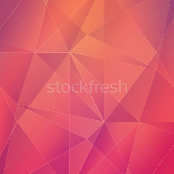 Streszczenie geometryczny wektora sztuki internetowych czerwony Zdjęcia stock © MPFphotography