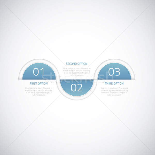 Modern business timeline vector infographic option elements Stock photo © MPFphotography
