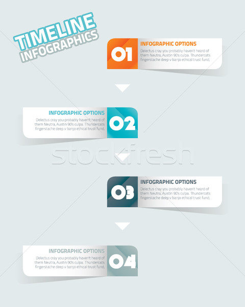 Infographic timeline Stock photo © MPFphotography