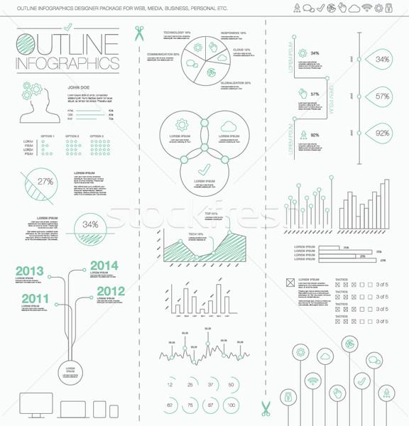 Infográficos criador dados apresentação gráfico Foto stock © MPFphotography