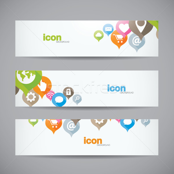 Creatieve abstract web icon banner vector Stockfoto © MPFphotography