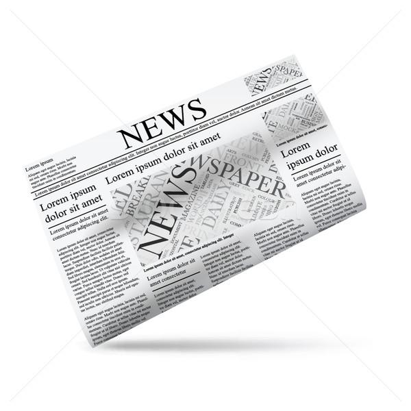 Periódico icono plantilla sitio web negocios fondo Foto stock © MPFphotography