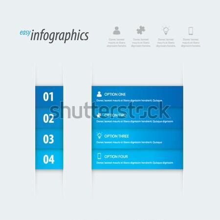 Moderne gemakkelijk infographics vector kan plaats Stockfoto © MPFphotography