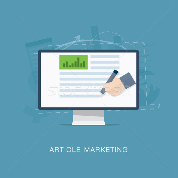 Internet newsletter marketing vector hârtie proiect Imagine de stoc © MPFphotography