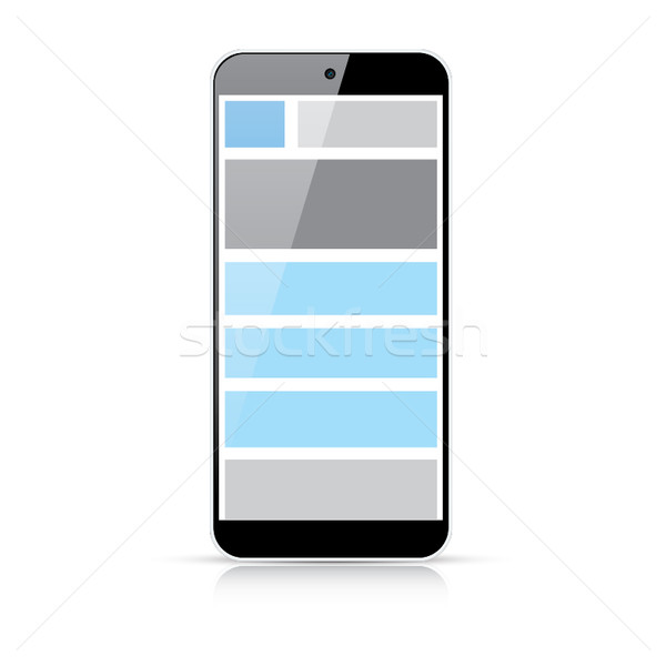 Web coding responsive html and css web design in smart phone Stock photo © MPFphotography