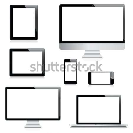 Modern realistic electronic devices vector illustrations Stock photo © MPFphotography