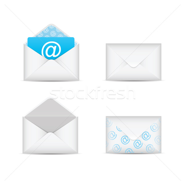 Set of e-mail and envelope icons vector eps10 Stock photo © MPFphotography