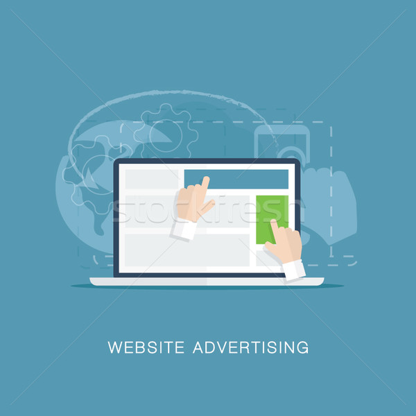 Flat website banner advertising vector illustration concept Stock photo © MPFphotography