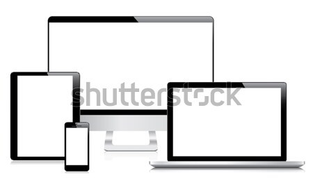 Ultimate web design electronic devices vector EPS10 Stock photo © MPFphotography