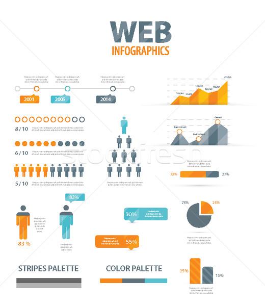 Big infographic vector illustration web element set Stock photo © MPFphotography
