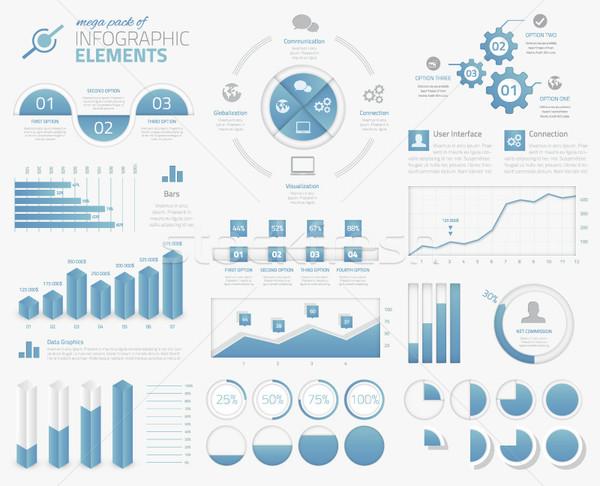 Foto d'archivio: Pack · infografica · grafici · opzioni · elementi