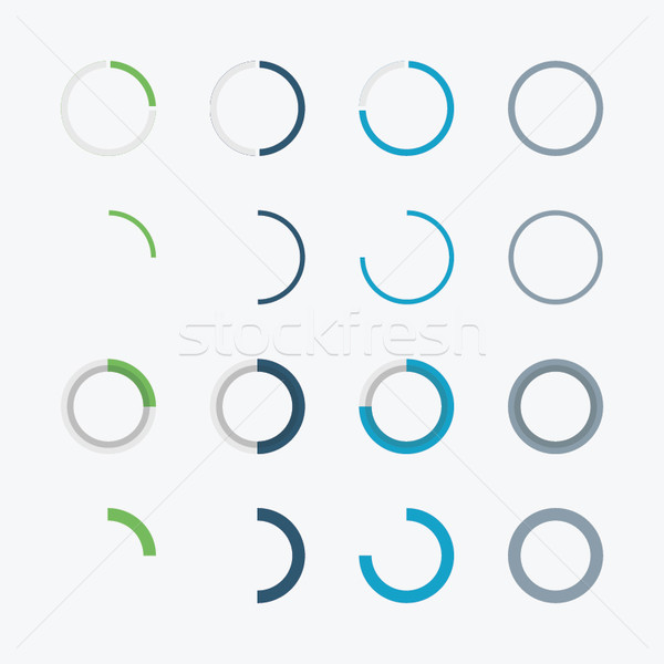 Blue and green infographic business circle chart diagram vector Stock photo © MPFphotography
