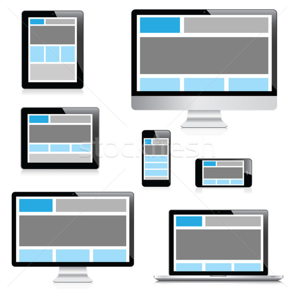 Responsive web design in electronic devices isolation vector Stock photo © MPFphotography