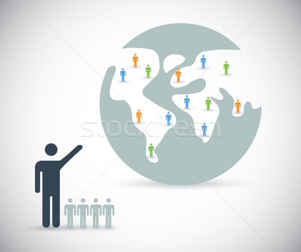 Globalizating business worldwide through internet vector concept Stock photo © MPFphotography