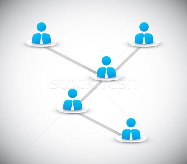 üzletemberek kapcsolódik internet megbeszélés terv technológia Stock fotó © MPFphotography