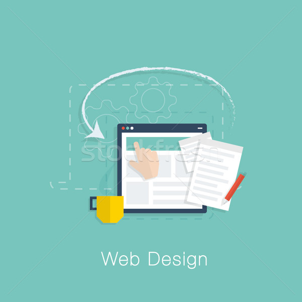 Web design rozwoju projektu wektora kolory komputera Zdjęcia stock © MPFphotography