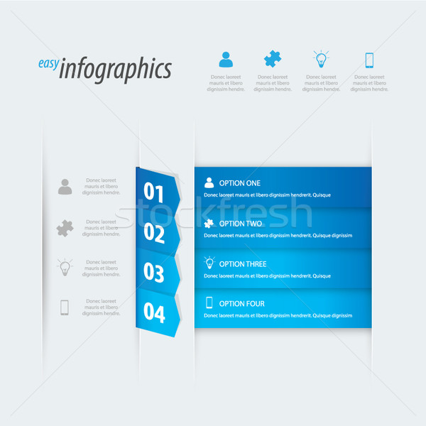 Quatre infographie vecteur lieu propre Photo stock © MPFphotography