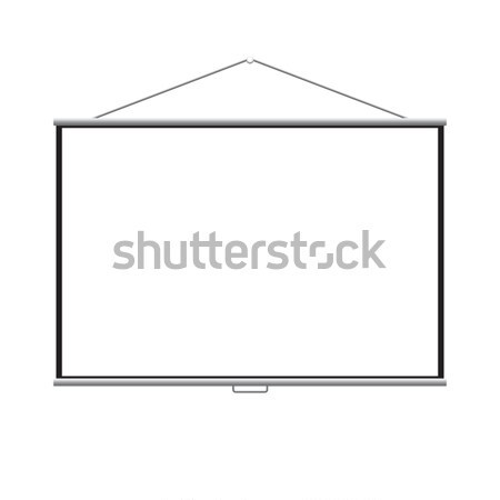 Lege projector scherm vector business muur Stockfoto © MPFphotography