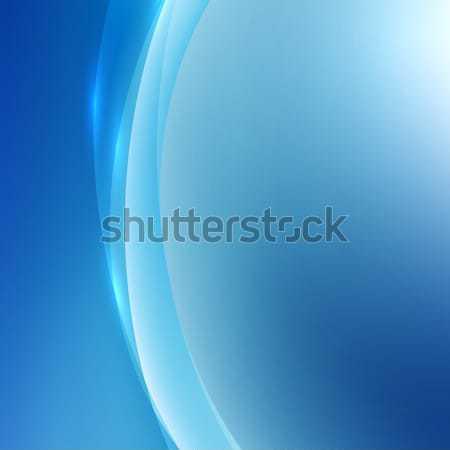 抽象的な 青 波 光 ベクトル 独自の ストックフォト © MPFphotography