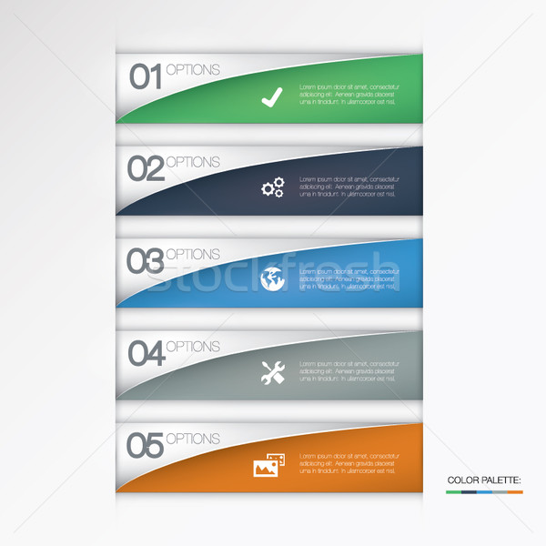 Vector opties business abstract ontwerp Stockfoto © MPFphotography
