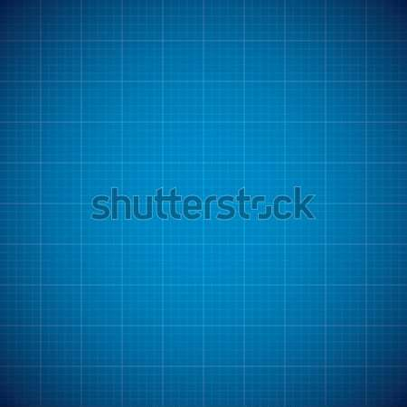Blueprint architechture vector background with line grid Stock photo © MPFphotography