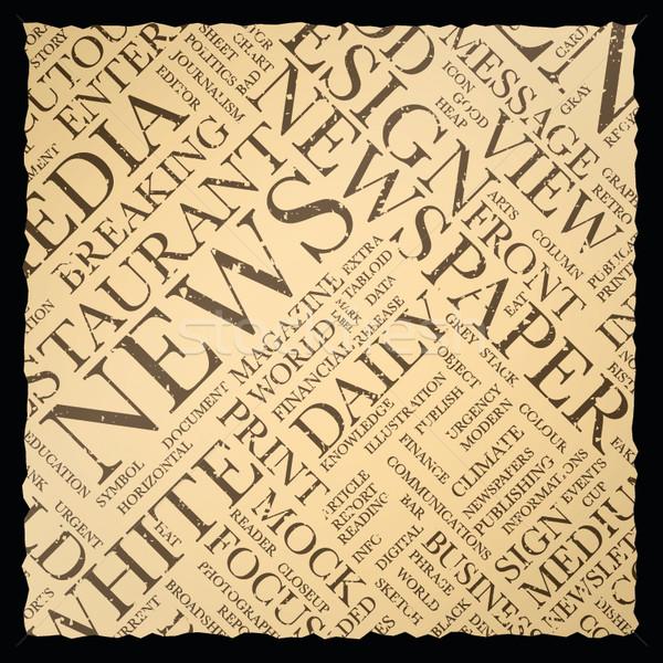 古い ヴィンテージ 新聞 ベクトル テクスチャ 言葉の雲 ストックフォト © MPFphotography