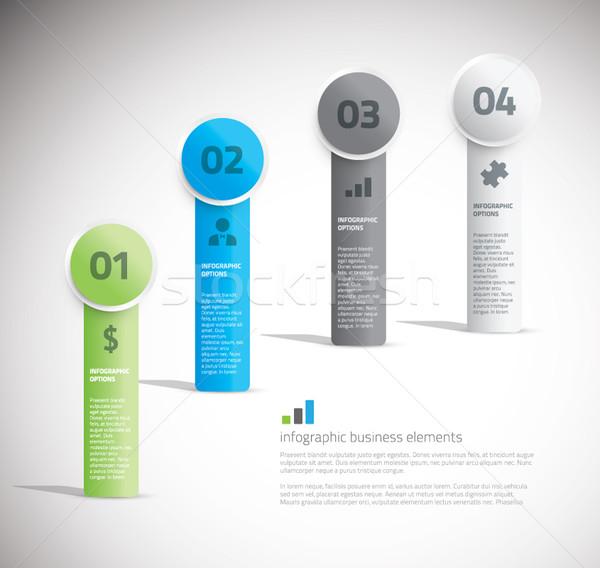 Retângulo infográficos modelo projeto informação cartão Foto stock © MPFphotography