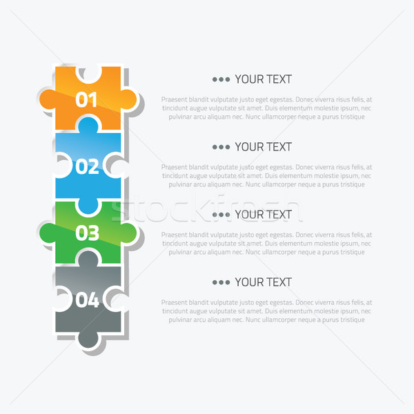 Puzzle piece infographic option and text area vector Stock photo © MPFphotography