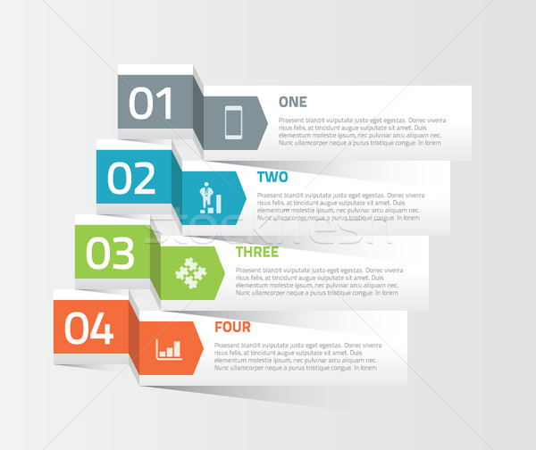 Four origami paper infographic option elements vector Stock photo © MPFphotography