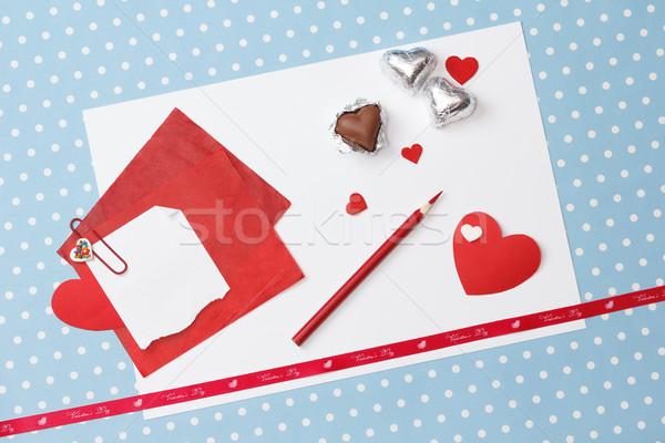 Valentin nap szeretet üzenet befejezetlen fehér papír Stock fotó © mrakor
