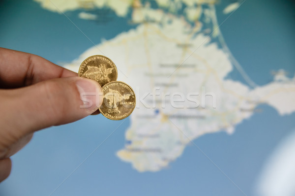 coins in honor of the Crimea to Russian Federation  Stock photo © mrakor