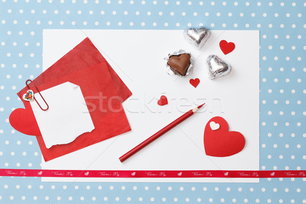 Valentine's day love message, unfinished Stock photo © mrakor