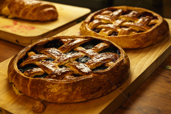 Pies on wooden tray in the restaurant  Stock photo © mrakor