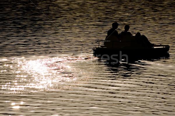 Catamarán río agua deporte luz océano Foto stock © mrakor