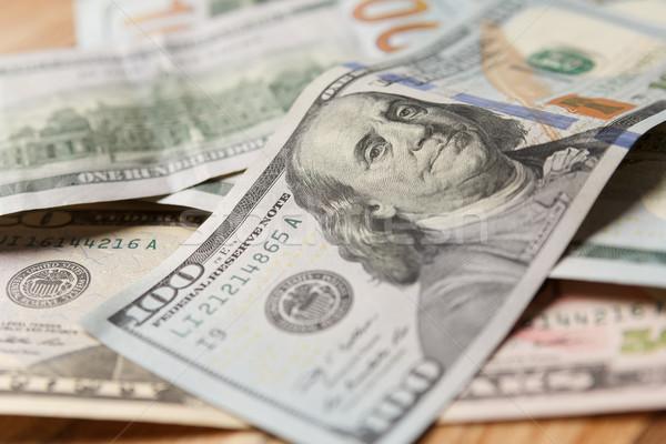 pile of 100 dollar banknotes Stock photo © mrakor