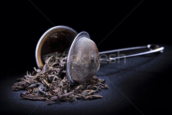 Tea stainer with leafs Stock photo © mrakor