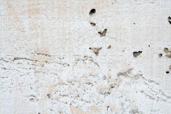 Stock photo: Weathered damaged wall