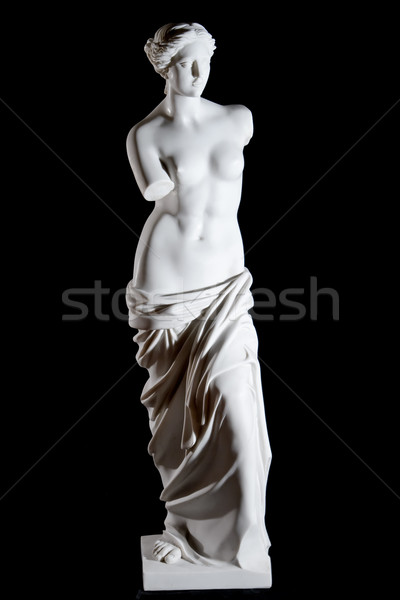White marble classic statue 'Aphrodite of Milos' isolated on black background Stock photo © mrakor